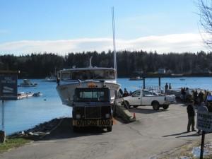 boat at ramp