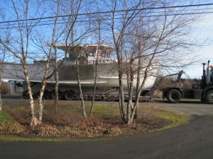 boat on Ridge Rd.