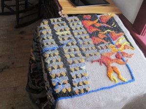 flame rug inprocess