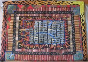 heating with wood rug