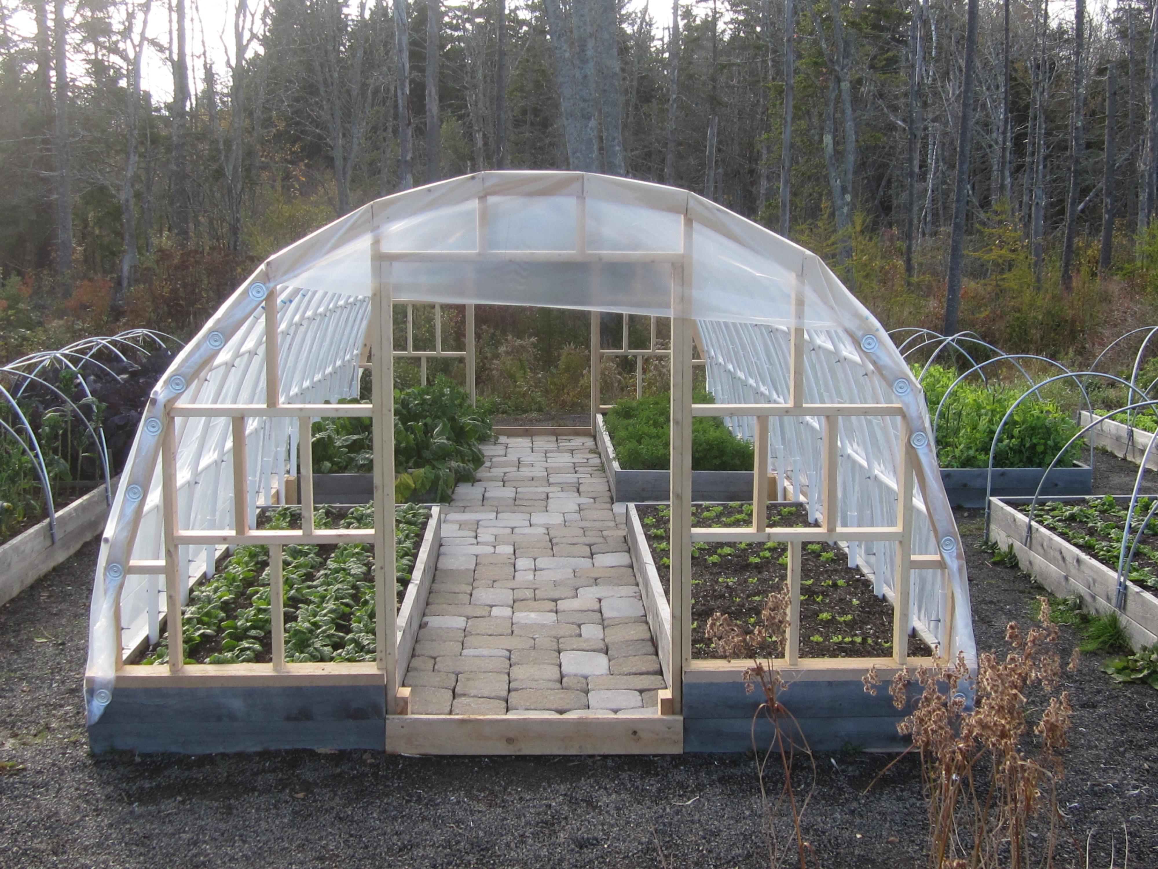 Hoop houses hedgerow for Diy hoop greenhouse